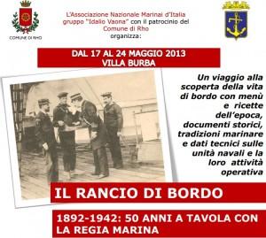 A tavola con la Regia Marina