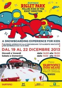 Snowboard per bambini Milano
