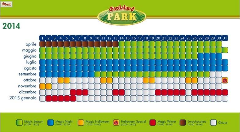 Gardaland calendario