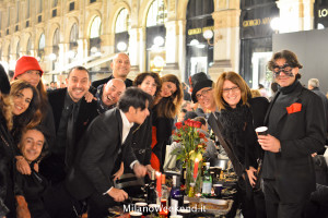Cena in nero Galleria Milano 2014-16