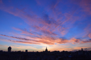 milano tramonto