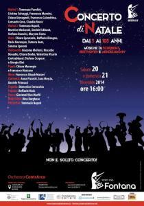 concerto natale 2014 Teatro Sala Fontana