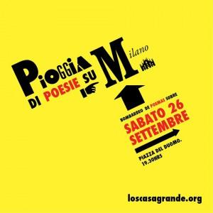 Pioggia di poesie su Milano