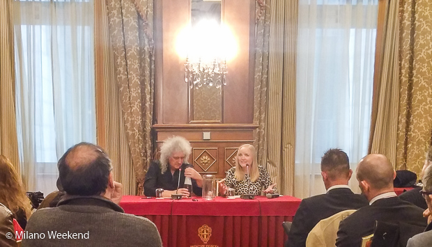 Brian May conferenza stampa Milano 2016